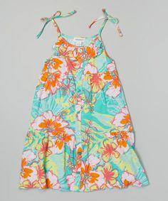 Another great find on #zulily! Atlantis Floral A-Line Dress - Toddler & Girls #zulilyfinds