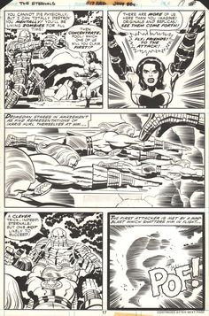 Kirby/ Royer Eternals 17 pg 17 Comic Art