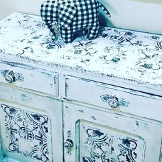 Painted Buffet, Iron Orchid Designs, Oregon City, New Shop, Chalk Paint, Shabby Chic, Hand Painted, Diy, Stamps