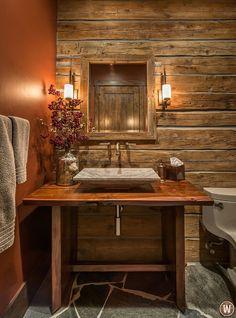 Simple, elegant bathroom in Tahoe.