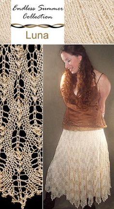 Flickering Flames Circular Skirt free knit pattern. #afs