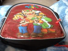 Nintendo Backpack 14 Inches,Item # 118976 Super Mario 3-D With Yoshi, Bowser