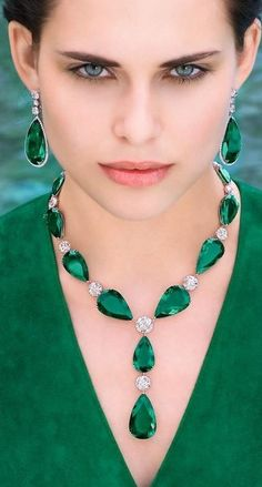 Wearing Columbian emeralds & Diamonds!