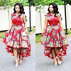 Checkout This Lovely Ankara Gown Design . Checkout This Lovely Ankara Gown Design African Fashion Designers, Latest African Fashion Dresses, African Print Fashion, Africa Fashion, African Prints, African Attire, African Wear, African Dress, African Style