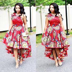 Checkout This Lovely Ankara Gown Design - DeZango Fashion Zone