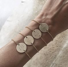 Initial bracelets made with love by James michelle #jmvibes