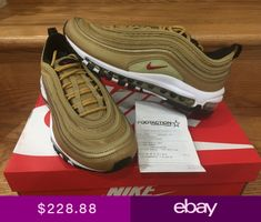 Nike Air Max 97 Metallic Gold Pack OG QS 2018 GS Women Men Sz 4Y- a9e868f7a