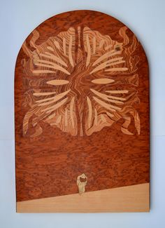 """""""Chance meeting""""  Wooden inlay, 2015 (60x40 cm)"""