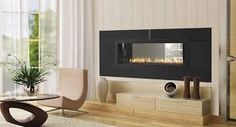 Image result for double sided indoor gas fireplace