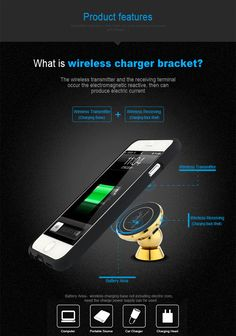 Factory Price 360 Rotating magnetic car phone holder wireless car charger for iphone 7