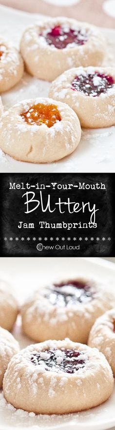 Melt-in-Your-Mouth Buttery Jam Thumbprints Cookies Recipe | Chew Out Loud