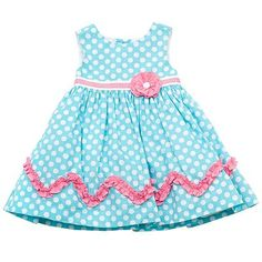 Rare Editions Newborn Polka-Dot Dress for Easter. Baby Girl Birthday Dress, Baby Dress, Dot Dress, Baby Frocks Designs, Cute Outfits For Kids, Toddler Dress, Kids Wear, Doll Clothes, New Baby Products