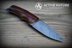 Active Nature - Handmade Knives Model: TS III AN made from Damasteel Damascus and Makassar handles Makassar, Handmade Knives, Damascus, Nature, Model, Knifes, Damask