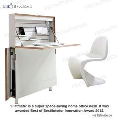 Space Saving desk.