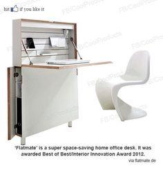Space Saving desk.