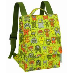 The little monsters on this backpack are so darling!! {Sugarbooger Kiddie Play Back Pack}
