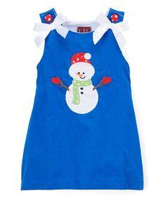 Look what I found on Royal Blue Snowman Shift Dress - Infant, Toddler & Girls Little Dresses, Blue Dresses, Infant Toddler, Toddler Girls, Little Ones, Royal Blue, Color Pop, Snowman, Cactus
