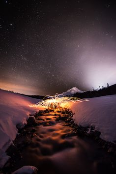 White River Sparks, Mt Hood, Oregon, USA, by Andrew Curtis, on flickr.