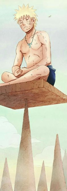 Uzumaki Naruto- at mount miyoboku training like jiraiya once did- to become a sage