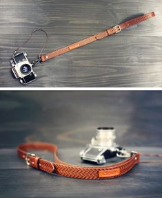 Custom Sling Leather Camera Strap Handmade by RSVPhandcrafted