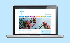 Website design for Shaws Wood residential care home in Gillingham. Design for the healthcare industry by Actual Studio