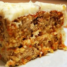 """Gluten Freedom: Namaste Carrot Spice Cake with """"Buttercream"""" Icing I used powdered sugar and earth balance, water, vanilla, and arrowroot for my icing. This cake made into the carrot cake is perfect. With every penny for the mix. Mexican Food Recipes, Sweet Recipes, Cake Recipes, Dessert Recipes, Paleo Dessert, Honey Carrots, Carrot Cake With Pineapple, Carrot Spice Cake, Carrot Cakes"""