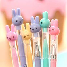 日韩国文具批发 可爱米菲兔子圆珠笔中性笔水笔 小学生奖品免邮