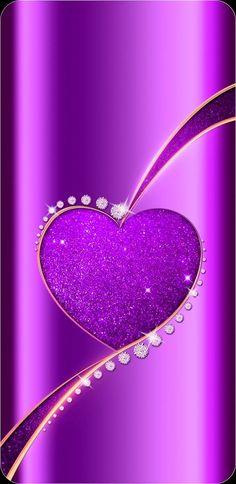 By Artist Unknown. Purple Wallpaper Phone, Blue Roses Wallpaper, Sassy Wallpaper, Heart Iphone Wallpaper, Bling Wallpaper, Bright Wallpaper, Cellphone Wallpaper, Galaxy Wallpaper, Flower Wallpaper