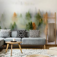 Be absolutely drawn into this gorgeous Autumn Dream wall mural wallpaper. It's custom-made to fit your wall.  Forest wallpaper and gorgeous tree wallpaper murals bring the natural beauty of the outdoors in. Ideal for application in any room, our forest murals are popular with homes and businesses all over the world! Get inspired today and click to ve wallpaper mural. Click to see more from Wallsauce! #wallmural #wallpaper #treewallpaper #bedroominspo #homedcor #forest #wallsauce Tree Wallpaper Mural, Forest Wallpaper, Landscape Wallpaper, Room Wallpaper, Forest Mural, Panoramic Photography, What's Your Style, Dream Wall, Designer Wallpaper
