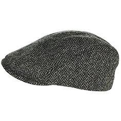 Biddy Murphy Irish Gifts Irish Touring Cap Extended Brim Irish Grey Tweed Formfitting Cap Handcrafted in Ireland Small