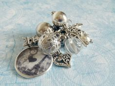 A Gray Dawn in Paris Interchangeable Beaded Cluster Charm or Keychain. 12.00, via Etsy.