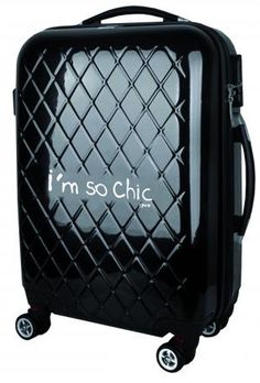 VALISE TROLLEY CABINE - I'm so chic - Noir