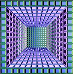 TukorTerUrG      by Victor Vasarely This is like the one I own but mine is turquoise, gold  and periwinkle