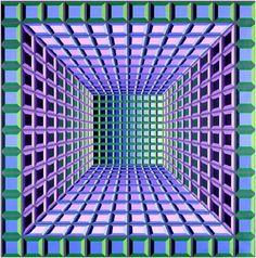 Ce tableau de Vasarely fait partie du mouvement Op art (ou art optique). L'artiste innove dans le domaine de la culture artistique en y intégrant des éléments mathématiques et scientifiques.