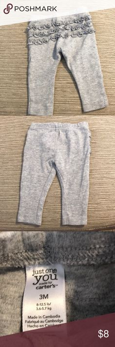 Just One You By Carter's ~Baby Girl Pants Baby Girl ruffle butt pants, like new condition. 🚫trades💰additional savings for bundles 📬offers accepted 📦fast shipping Carter's Bottoms Leggings