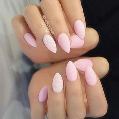 Very attractive pink almond shape nails for short nails - Daily Fashion Almond Shape Nails, Almond Acrylic Nails, Almond Nails, Nails Shape, Claw Nails, Feet Nails, Pink Nails, My Nails, Cotton Candy Nails