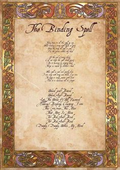 Binding spell Wicca witchcraft paganism