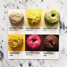 Designer Lucy Litmancelebrates the beautiful colors found in the world by matching food items with their Pantone swatches. For months now, the creati