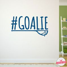 One of our favorite hashtags! ;) Goalie power! Awesome lacrosse wall decals from LuLaLax.com!