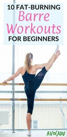 These fat-burning barre workouts for beginners are great before almost all of them require no equipment at all! An ordinary chair is all you need for most and they are workouts at home! #barreworkout #fintessmotivation