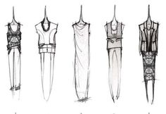 Fashion Sketchbook - fashion design sketches; dress drawings; womenswear collection development; fashion portfolio