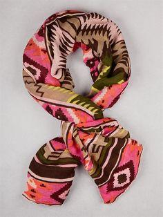 navajo print scarf #DKNY