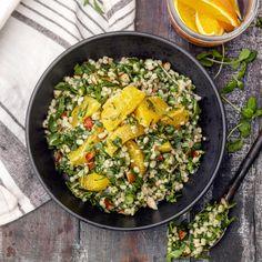 Byggrynsalat med ruccola og appelsin – Ourkitchenstories