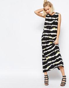 Image 1 ofCheap Monday Stripe Tie Dye Tank Maxi Dress