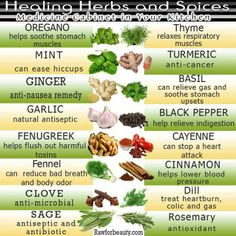 healing herbs and spices