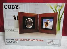 Coby Digital Picture Frame for sale online Built In Speakers, Stereo Speakers, Picture Cards, Picture Frames, Flash Memory Card, Digital Photo Frame, Wall Decor Pictures, Mp3 Player, Remote
