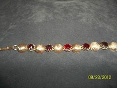 Vintage Kramer Signed Red Rhinestone Bracelet | eBay