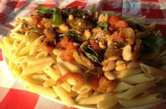 Roasted Pepper with Beans and Macaroni