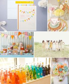 THIS IS PERFECT!!! Colors, banner, old soda, flowers. LOVE!