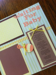 Waiting For Baby Pre-Made Scrapbook Pages by scrapbookitfancy